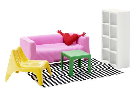Ikea va commercialiser des meubles miniatures pour maison de poupées-3